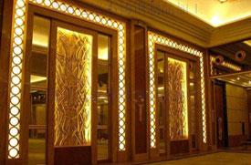 博海香槟金彩色不锈钢镜面板在KTV娱乐会所室内装饰中应用