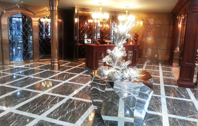 博海金属装饰工程钛金板无锡体验馆—大厅