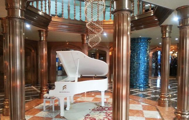博海金属装饰工程钛金板无锡体验馆—休闲区