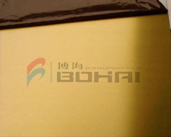 卫浴专用拉丝黄钛金装饰不锈钢板定制