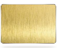 真空黄钛金拉丝不锈钢板